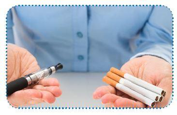 סיגריות רגילות וסיגריה אלקטרונית
