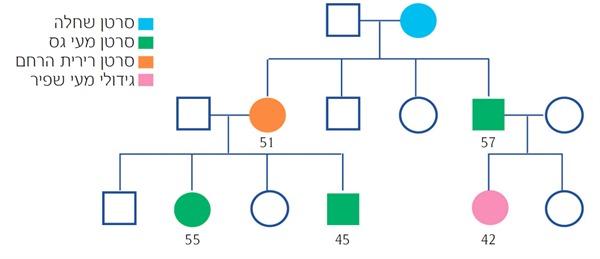 עץ משפחה תסמונת לינץ