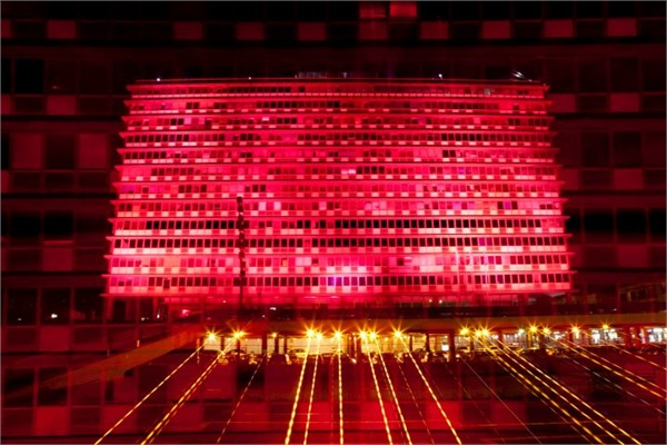 Illuminating in Pink in Tel Aviv