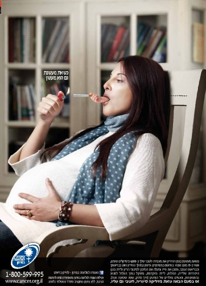 Pregant and smoking woman